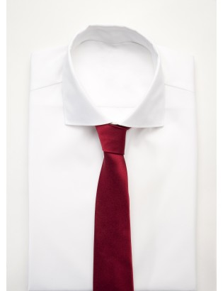 Tie in Pure Silk woven, red burgundy