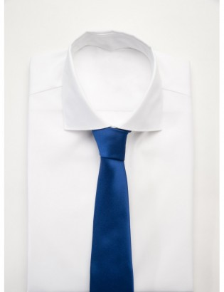 Tie in Pure Silk woven, dark blue