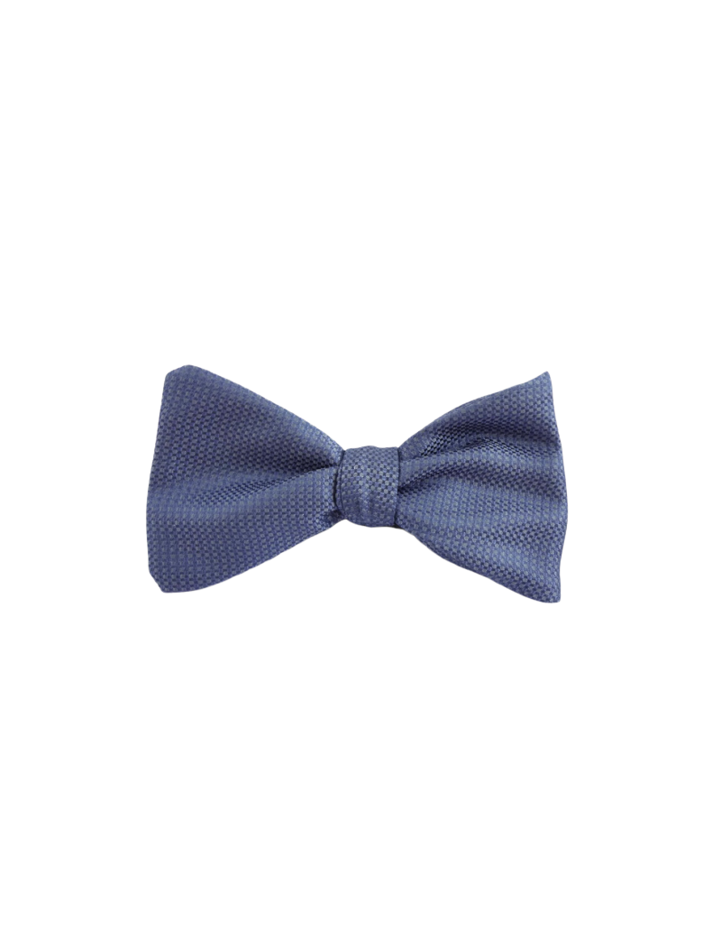 09e80d29388e Bow tie handmade in blue textured silk. Made in France. Bow tie to tie and  untie at will. Closure with fastening and adjustable neck strap, from 37 cm  to 44 ...