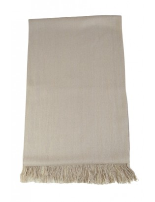 Hand-woven luxury scarf in cashmere and silk beige